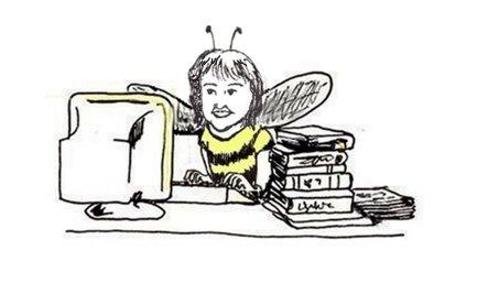 busy bee, illustration, portrait